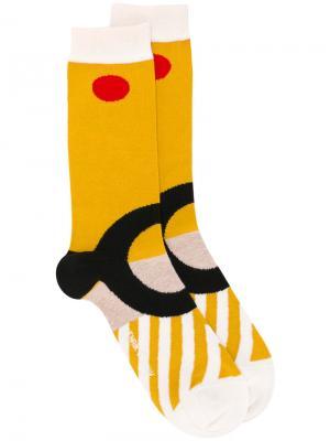 Носки Ring Henrik Vibskov. Цвет: жёлтый и оранжевый