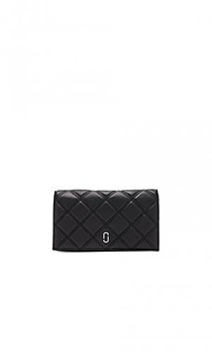 Бумажник на цепочке double j matelasse Marc Jacobs. Цвет: черный