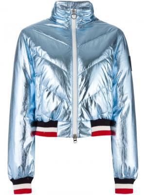 Дутая куртка бомбер Rossignol. Цвет: синий