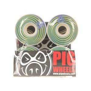 Колеса для скейтборда  Vertigo Blue 100A 55 mm Pig. Цвет: зеленый,синий,белый