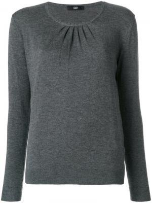 Присборенный свитер Steffen Schraut. Цвет: серый