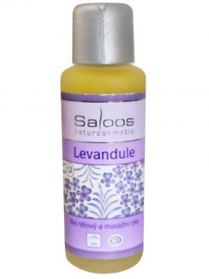 Массажное масло Лаванда 50 мл Saloos. Цвет: белый