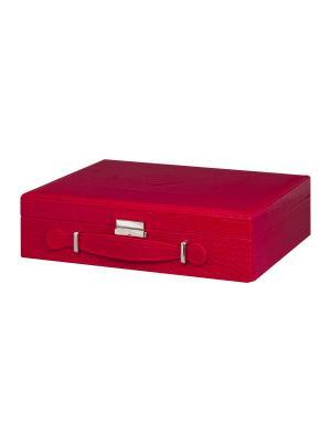 Шкатулка Красный чемодан Elan Gallery. Цвет: красный