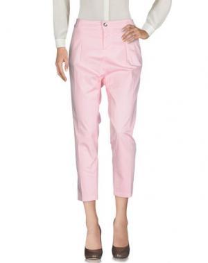 Повседневные брюки ENTRE AMIS. Цвет: розовый