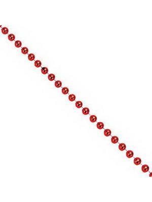 Бусы декоративные, 270см, средние d1см, пластик, СНОУБУМ. Цвет: красный