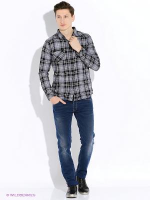 Рубашка Japan Rags. Цвет: черный, серый, белый