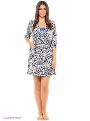 Комплект домашней одежды HomeLike. Цвет: серый, синий