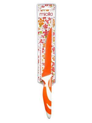 Нож кухонный Оранжевый Miolla. Цвет: оранжевый