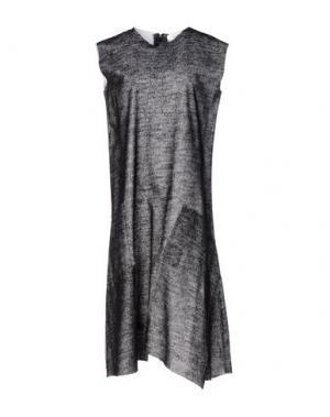 Платье до колена MANOSTORTI. Цвет: стальной серый