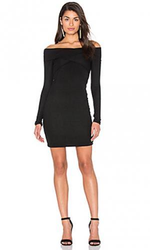 Платье в рубчик 2 x 1 Splendid. Цвет: черный