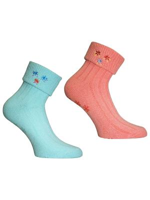Носки, 2 пары Master Socks. Цвет: голубой, коралловый