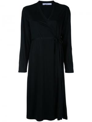 Платье с запахом Astraet. Цвет: чёрный