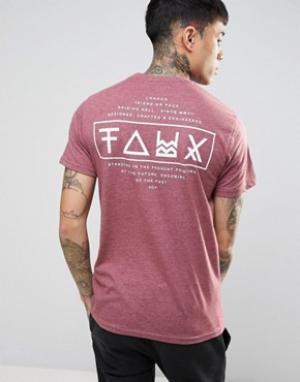 Friend or Faux Футболка с принтом на спине Limitless. Цвет: красный
