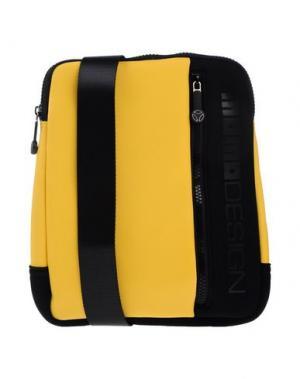 Сумка через плечо MOMO DESIGN. Цвет: желтый