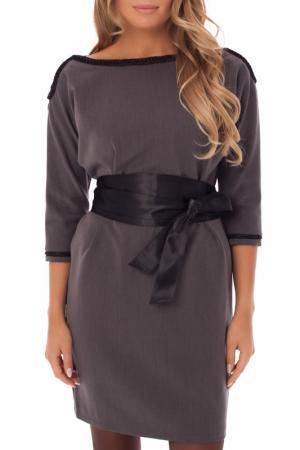 Платье с юбкой карандаш Gloss. Цвет: темно-серый, черный