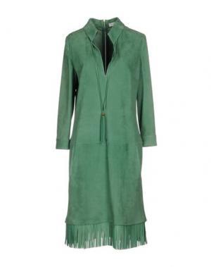 Платье до колена JITROIS. Цвет: светло-зеленый