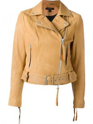 Байкерская куртка Holmedale b Muubaa. Цвет: коричневый