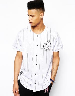 Бейсбольная футболка Freemont & Harris Fremont. Цвет: белый
