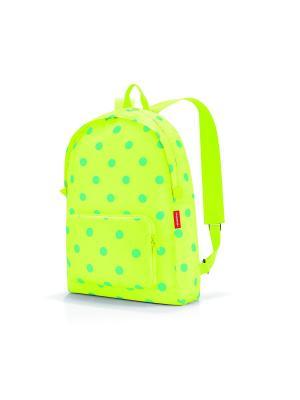 Рюкзак складной Mini maxi lemon dots Reisenthel. Цвет: бирюзовый, желтый