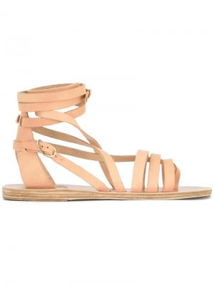Босоножки с ремешками Ancient Greek Sandals. Цвет: телесный