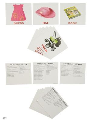 Набор обучающих карточек Первые английские слова Вундеркинд с пеленок. Цвет: белый