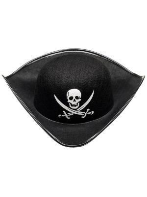 Маскарадная шляпа для мальчиков  Пират ФЕСТА. Цвет: черный