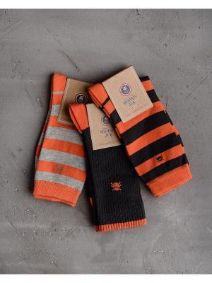 Носки, 3 шт. Modniy JUK. Цвет: оранжевый