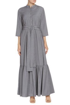 Платье-макси NATALIA PICARIELLO. Цвет: серый