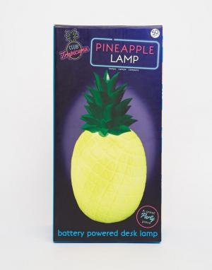 50FIFTY Лампа в виде ананаса. Цвет: мульти