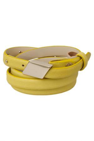 Ремень Francesco Marconi. Цвет: желтый