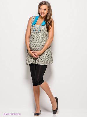 Бриджи для беременных 40 недель. Цвет: черный