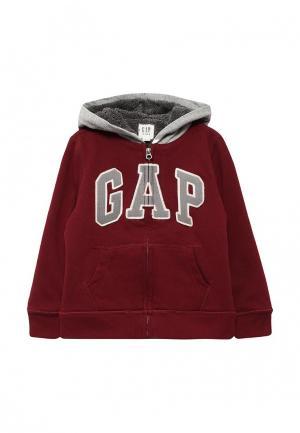 Толстовка Gap. Цвет: бордовый