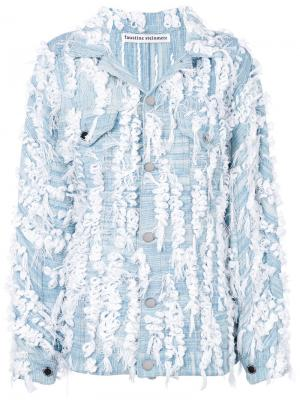 Джинсовая куртка с аппликацией Faustine Steinmetz. Цвет: синий