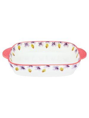 Блюдо для запекания и сервировки стол Лавандовое настроение Elan Gallery. Цвет: белый, розовый, сиреневый