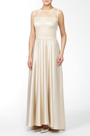 Платье MSW ATELIER. Цвет: бежевый