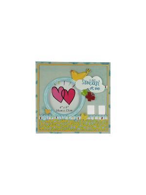 Фоторамка Птичка для фото 9*13см Русские подарки. Цвет: белый, красный