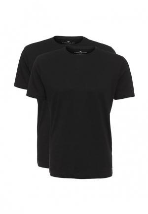 Комплект футболок 2 шт. Tom Tailor. Цвет: черный