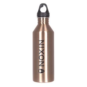 Бутылка для воды  Nixon M8 800ml Lock Up Glossy Rose Gold W Black Print Mizu. Цвет: черный