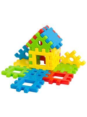 Игрушка-конструктор Соедини 16 эл. ТИГРЕС. Цвет: желтый, синий, зеленый, красный