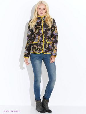 Куртка Baon. Цвет: коричневый, желтый