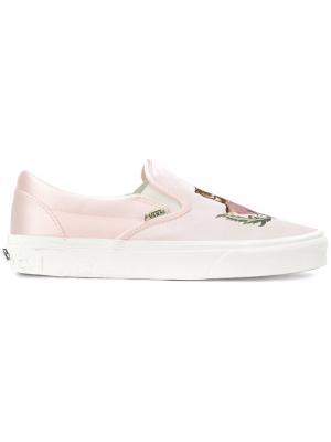 Слипоны California Souvenir Vans. Цвет: розовый и фиолетовый