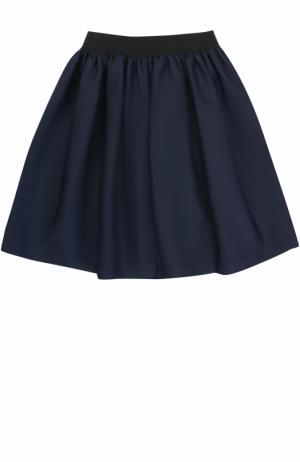 Мини-юбка свободного кроя с эластичным поясом Caf. Цвет: темно-синий