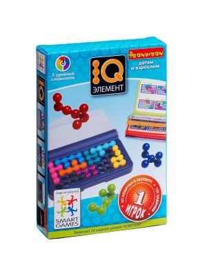 Логическая игра Bondibon IQ-Элемент, арт. SG 423 RU. Цвет: голубой, желтый, зеленый, красный