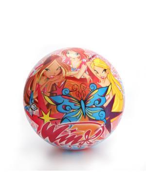 Мяч Играем вместе WINX 23 см.. Цвет: красный, голубой