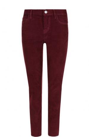 Укороченные вельветовые джинсы Current/Elliott. Цвет: бордовый