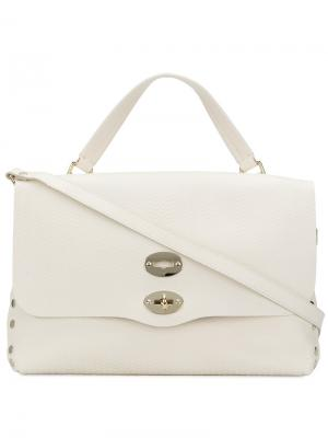 Большая сумка-тоут Zanellato. Цвет: белый