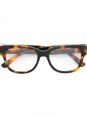 Очки в квадратной оправе MCM. Цвет: коричневый