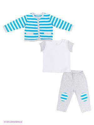 Комплект одежды NinoMio. Цвет: серый, белый, бирюзовый