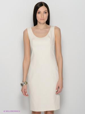 Платье ЭНСО. Цвет: молочный