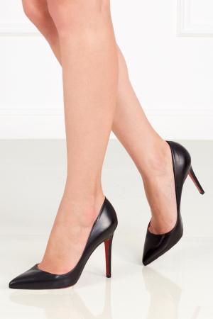 Кожаные туфли Pigalle 100 Christian Louboutin. Цвет: черный